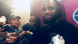 LeBron james interview talks about Dennis Smith JR