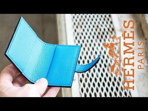 Making a luxury Hermes style folded card holder - Take #1 (Exploration Series) / Free PDF Template!
