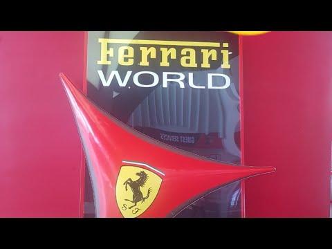 Visiting Yas Ferrari world 2019