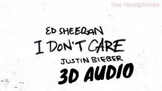 (3D Audio) I Don't Care - Justin Bieber, Ed Sheeran | 3D Song | I don't care | 3D song | 8d song