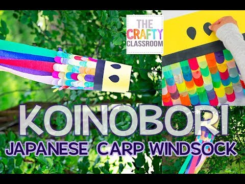 Koinobori Carp Windsock Craft For Kids