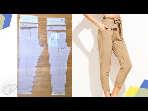 PAPER-BAG TROUSER WITH PATCH POCKETS | KIM DAVE