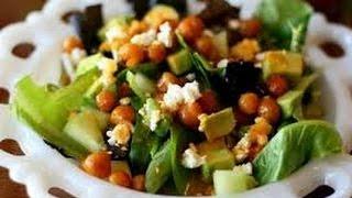 Полезный салат с нутом