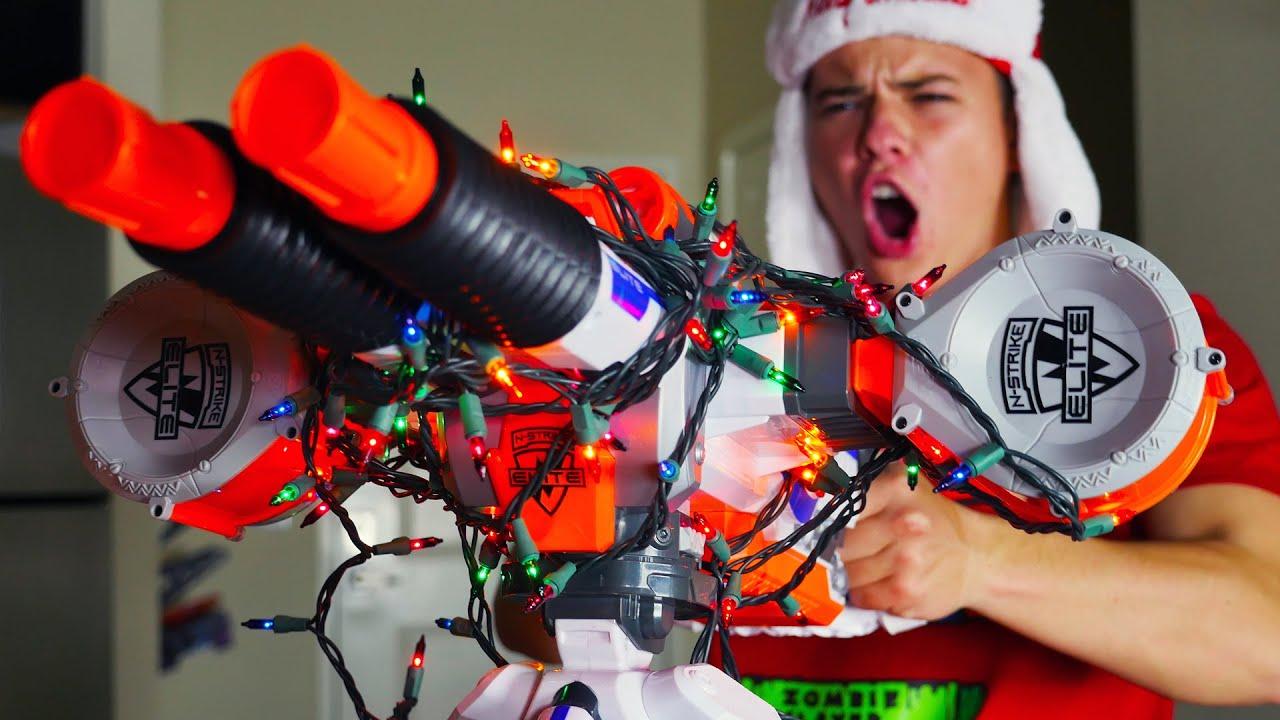 Nerf War: Christmas Warfare - YouTube