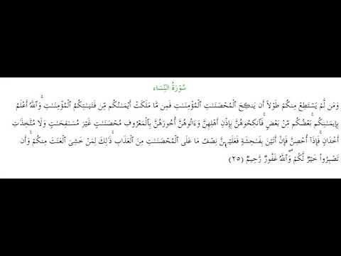 SURAH AN-NISA #AYAT 25: 23rd January 2020