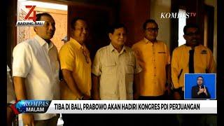 Tiba di Bali, Prabowo Akan Hadiri Kongres PDI Perjuangan