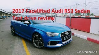 2017 Facelifted Audi RS3 sedan test drive review