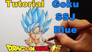 Como Desenhar Goku SSJ Azul - Dragon Ball Super - How to Draw Goku SSJ Blue