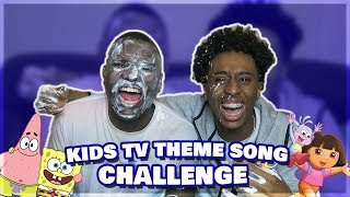 KIDS TV SHOW THEME SONG CHALLENGE w/MOEZY (FORFEITS)