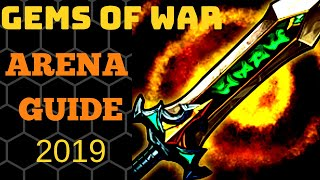 Gems of War arena guide 2019 | How to beat arena w/o dawnbringer | Arena tips and strategy