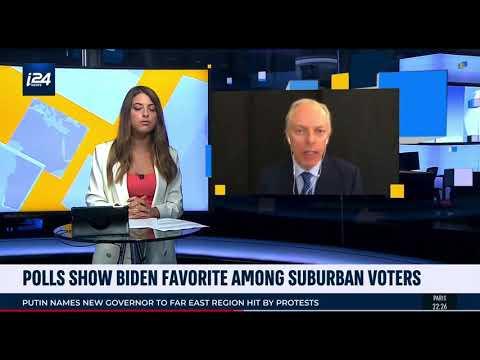 """i24 TV's """"Global Eye,"""" July 20, 2020: Trump & Biden poll numbers"""