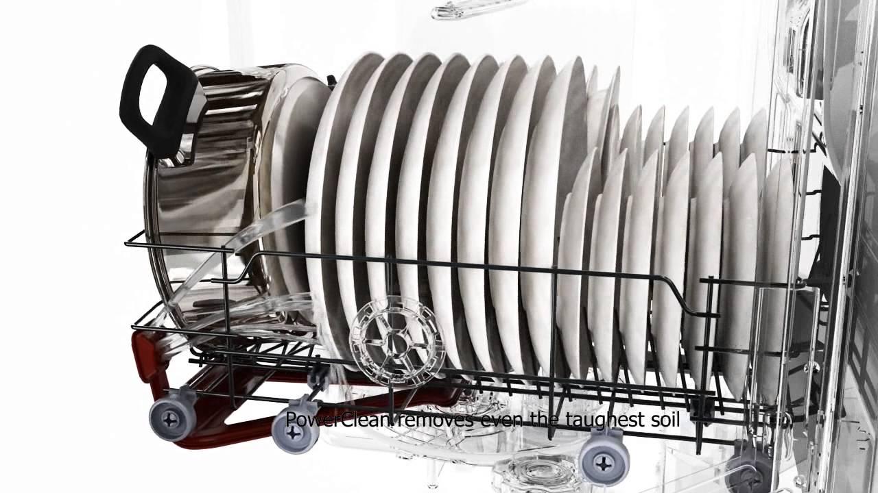Whirlpool Lave Vaisselle 6th Sense Powerclean Youtube