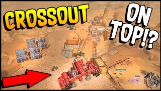 Crossout - Rocket Artillery & On Top Of The Map! Air Support Flying Build - Crossout Gameplay