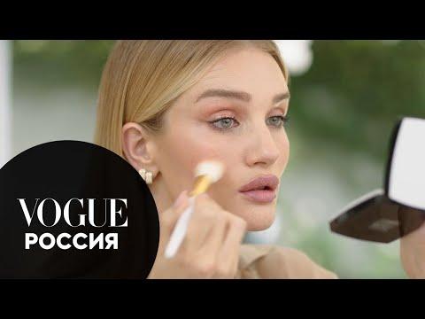 Рози Хантингтон-Уайтли показывает, как сделать макияж глаз с эффектом металлик