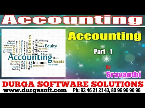 Accounting Package || Accounting Part - 1 by Sravanthi