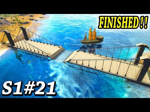 ARK NEW BRIDGE DESIGN IS FINISHED!! Ark Survival Evolved The Center Ep21