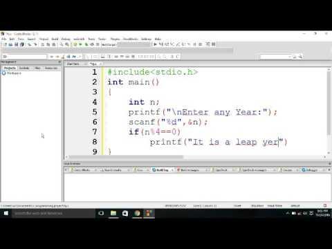 Print Leap year in C Programming