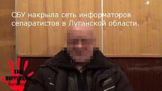 СБУ накрыла сеть информаторов сепаратистов в Луганской области