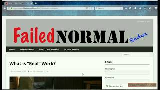 Чтение статьи What is Real Work? из блога FailedNormal -1