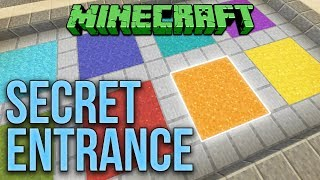 Minecraft 1.12 Yet Another Secret Entrance (No Redstone) Tutorial