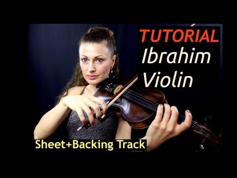 Tutorial Ibrahim Violin/ Sheet + Backing Track (Free) Muhtesem Yüzyıl/ The Magnificent Century/ ВВ
