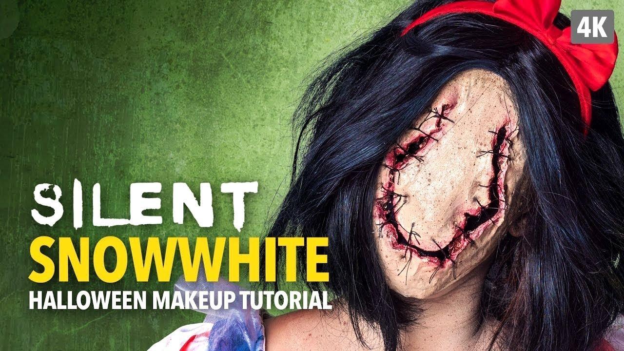 Silent Snow White Halloween Makeup Tutorial - YouTube