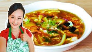 酸辣湯的家常做法 ~超級好喝!【美食天堂】家常料理食譜 一學就會