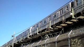 F Train in Coney Island Brooklyn - MTA - NYCTA Subway Car