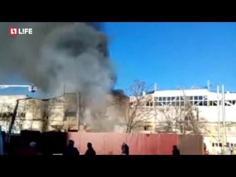 Сильный пожар в Рязани