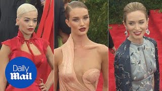 Best of British! Rosie and Rita lead Met Gala glamour in NYC - Daily Mail
