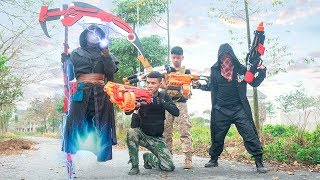 Nerf War: Squad S.W.A.T Nerf Guns Fighting Army Weapons Zombies Group | Death seeks prey Nerf Gun