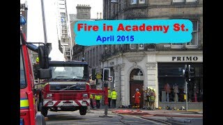 Fire in Academy Street Inverness