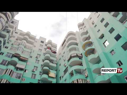 Report TV - Tiranë, pamje e re e pallateve Hawai në Laprakë