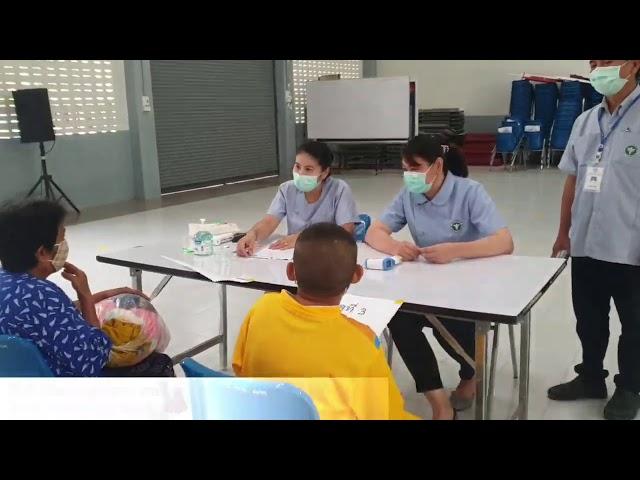 รับนักเรียนกลุ่มที่ 2 ตามมาตราการป้องกัน Covid 19 โรงเรียนน่านปัญญานุกูล จังหวัดน่าน