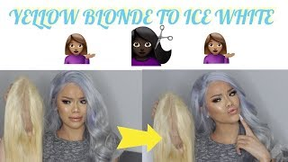 HOW TO GET ICY HAIR AT HOME! | 613 BLONDE TO WHITE