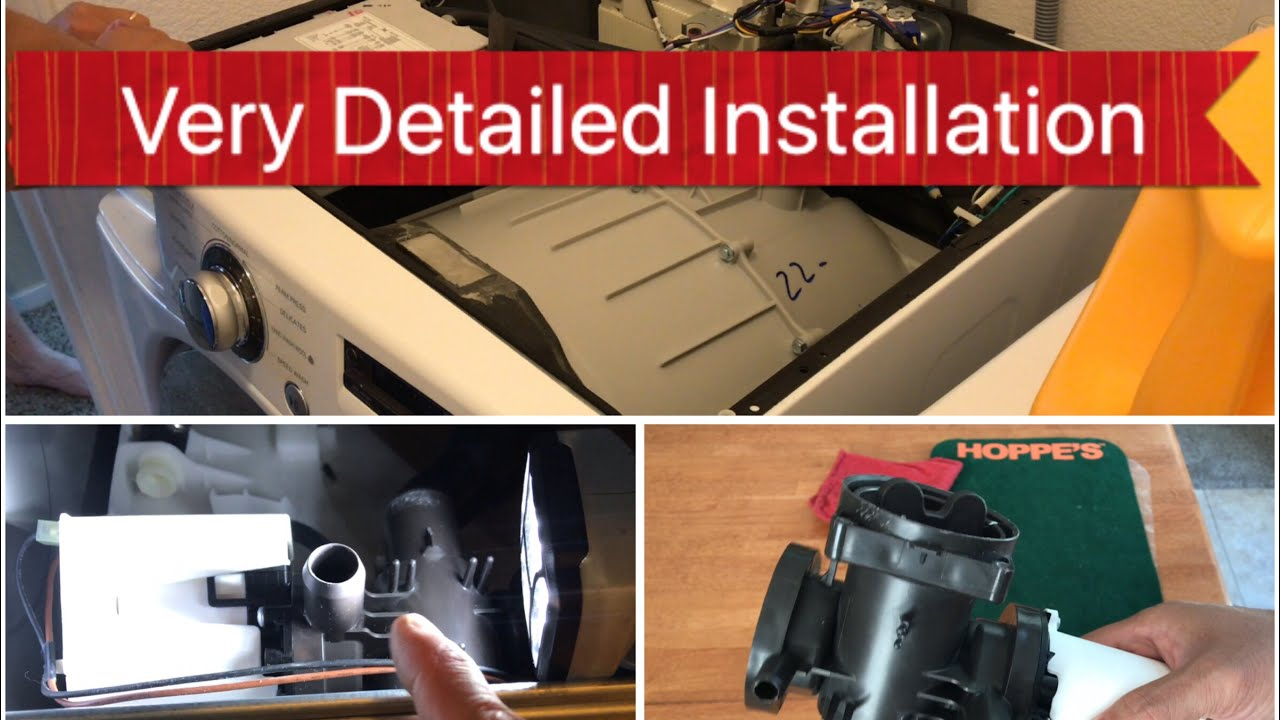 How To Remove Drain Pump From Lg Washer Detailed Instructions Step By Step Pump Repair Part 1 Hd 4k Youtube