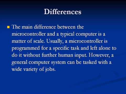 Difference Between 8051 And Pic Microcontroller Pdf