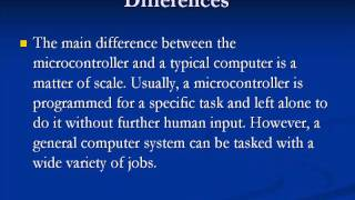 Differences Between Microprocessor