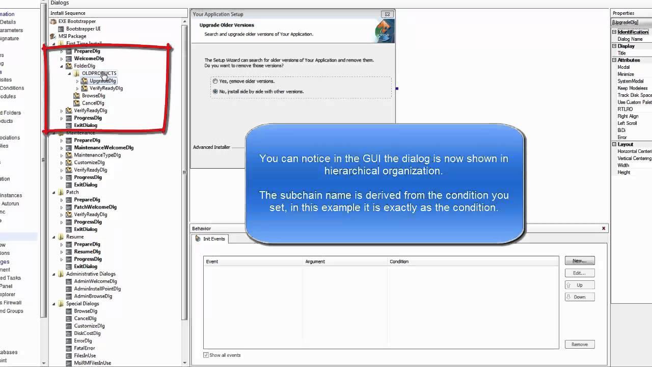 Conditionally show an MSI dialog