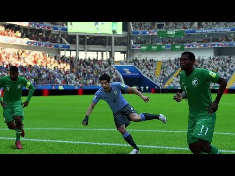 World cup 2018 - uruguay vs saudi arabia - group a full match sim (fifa 18)