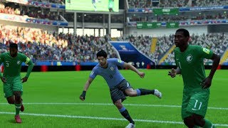 World Cup 2018 - Uruguay vs Saudi Arabia - Group A Full Match Sim (FIFA 18)