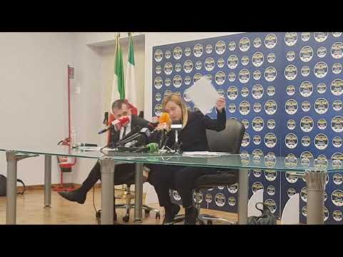 Ora Live Conferenza Stampa di FdI su scandali Arcuri e mangiatoia covid. Interviene Giorgia Meloni