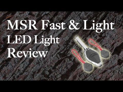 MSR Fast and Light LED Light Review & MSR Fast and Light LED Light Review - YouTube