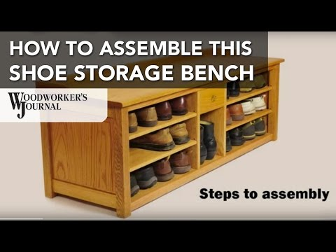 How to Assemble the Shoe Storage Bench Project