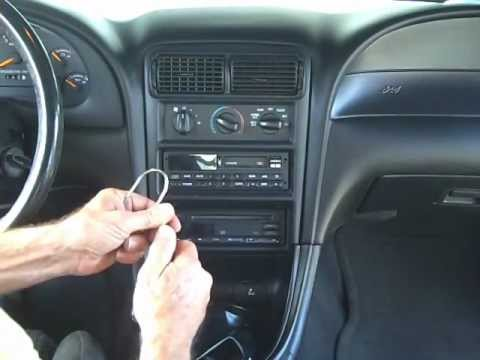Ford Mustang Stereo And Cd Removal Repair 1994 2000