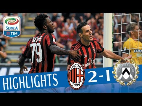 Milan - Udinese - 2-1 - Highlights - Giornata 4 - Serie A TIM 2017/18
