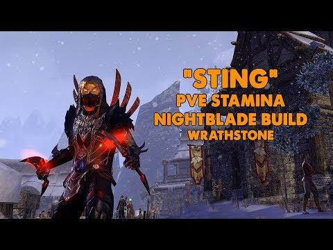ESO - Sting - Stamina Nightblade PVE Build - (Wrathstone)