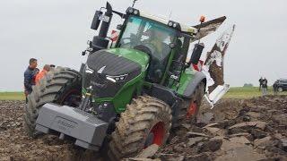 Fendt 1050 Vario diepploegen.... bij Van Werven deep ploughing Trekkerweb pure sound