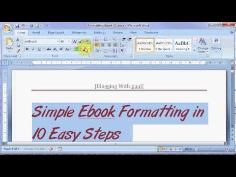 Simple EBook Formatting In 10 Easy Steps - Part 1