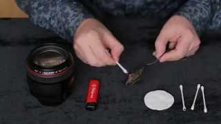 Обучение фотосъемке - Чистка объектива с помощью газовой сажи